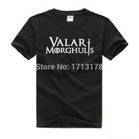 Wholesale Game Thrones T Shirts - Wholesale-Free Shipping Valar Morghulis game of thrones shirt Printed Men T Shirt Camisetas Manga Curta Camisa Masculina tee shirts