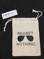 f9e89894d7f Personalized Regret Nothing Bachelorette Hangover bridal shower recovery  Survival Kit wedding favor gift muslin bags Candy pouch