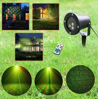 Wholesale Big Red Laser - Wholesale- Remote 8 Big Xmas Patterns Outdoor Waterproof Laser Projector Garden Holiday Christmas Tree Red Green Landscape Light