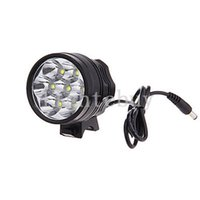 Wholesale bike light headlamp online - Waterproof Lm x CREE XML T6 LED Bright Bicycle Bike Front Flash Light headlamp V Rechargeable Battery Pack charger