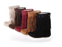 Ankle Boots black slouchy boots - HOT Womens rivet fringe Slouchy Hidden Wedge Moccasin ankle boots Plus