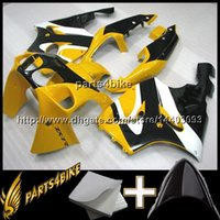 Wholesale 1997 Zx7r Fairings - 23colors+8Gifts YELLOW motorcycle cowl For Kawasaki ZX-7R 1996-2003 ZX7R 1996 1997 1998 1999 2000 2001 2002 2003 ABS Plastic Fairing