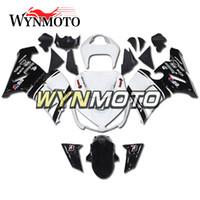 weiße kawasaki ninja plastics großhandel-Verkleidungen für Kawasaki ZX-6R 636 2005 2006 05 06 Weiße schwarze Einspritzung ABS Plastik-Rumpf-Abdeckungen Motorrad ZX6R Rumpf-Verkleidung-Rahmen Cowlings