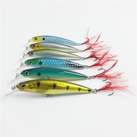 Wholesale fishing lures 14g for sale - Group buy New Plastic Crankbaits fishing hooks with feather cm g D Eyes Hard Lures wobbler crank Bait
