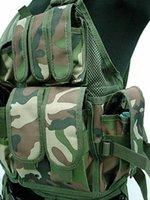 Wholesale Tactical Vest Woodland - Wholesale-Airsoft Tactical Hunting Combat Vest Camo Woodland