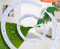 Wholesale 17w Led - Wholesale-High quality 13W 17W 25W LED Panel Light board SMD 5730 LED Round Ceiling board circular lamp board + power driver+magnetic