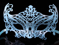 Wholesale Ladies Masked Ball Costumes - Fashion women men mask children lady hollow out carnival Halloween Christmas party mask costume fancy dress ball props festive supplies gift