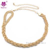 Wholesale Dress Chain Belts - 2016 New Arrival Luxury Metal Chain Belts For Women Gold&Silver Plated Women's Belts Evening Dress Cummerbund Cinturones Mujer BL-044