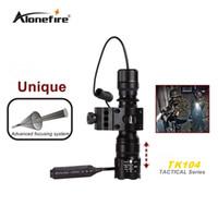 Wholesale Portable Guns - Alonefire TK104 L2 LED Tactical Gun Flashlight 2200LM 5 mode Pistol Handgun Torch Light Lamp Taschenlampe+gun scope mount+remote switch
