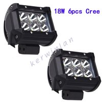 Wholesale Off Road Led Driving Light - LED Work Light 6led 18W Cree Bar Lamp for Motorcycle Tractor Boat Off Road IP67 Truck Spot Flood Beam Driving lamp bar