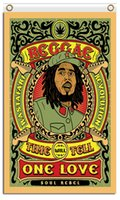 Wholesale Bob Marley Posters - Wholesale Fabric Prints 90x150cm 100D Polyester 3x5ft Fashion Metal Music Classic Rock One Love Bob Marley Reggae Posters