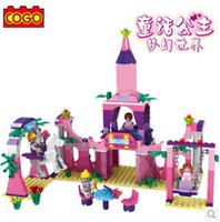 palace amusement - COGO Girl Series Amusement Palace Swing Building Block Sets for Girls Educational DIY Bricks Toys for girls