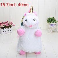 Wholesale Despicable Unicorn Pillow Plush - Wholesale-High Quality Despicable Me 50pcs 40cm 15.7inch Despicable Me Fluffy Unicorn Plush Pillow Toy Doll