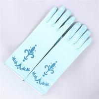 Wholesale Kids Fancy Gloves - Elsa Princess Girl Fancy Gloves girls costumes snow queen gloves frozen birthday gift cosplay gloves for kids