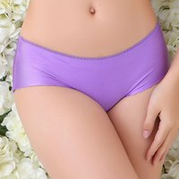 Wholesale Panties Woman Trace - Fashion no trace solid color underpants one-piece seamless underwear soft comfortable panties women ruffles edge multi colors