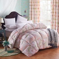 Wholesale Luxury Blankets Free Shipping - Wholesale-New Luxury flowers printing cotton cover filling with velvet comforter Quilt Blanket Warmer Twin Queen King size free Fast ship