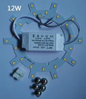 panel circular led 12w al por mayor-¡CALIENTE! Envío gratis PANEL LED Círculo de luz AC85-265V SMD5730 12W 15W 18W 24w LED Panel de techo redondo la lámpara circular + fuente de alimentación + Magnético