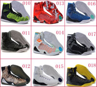 Wholesale Cream Colour Boots - 18 Colours (With Box) Wholesale Kobe KB 9 IX Elite Black Mamba Blackout Christmas High Men Basketball Sport Shoes