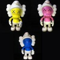 3pcs Kaws The Smurfs Original Fake Action Figure Companion Collection Muñeca Regalos de Navidad Cumpleaños Juguetes Gloomy-Bear Qee Bearbrick