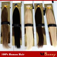 "Wholesale Nano Beads - XCSUNNY Stock Nano Bead Hair Extensions 18""20"" 100g pk Nano Rings Human Hair Extensions 100% Human Indian Remy Hair + 100beads"