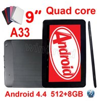 Wholesale allwinner 3g tablets pc resale online - 9 quot Inch A33 Allwinner Tablet PC Quad Core Android M GB Dual Camera Wifi Bluetooth V90 DHL colorful A31S A23 Google