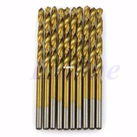 Wholesale Drilling Wood - Fashion Hot 50 pcs lot Titanium Coated HSS High Speed Steel Drill Bit Set Tool 1 1.5 2 2.5 3mm