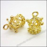 30 pcs Vintage Charms Imperial Crown Pendant Gold Fit Braceletes Colar DIY Metal Jewelry Making