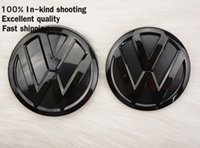 Wholesale Emblem Grille Gti - Devil style matt black Front Grille + Rear Back Emblem for VW volkswagen POLO MK5 6R 2014 2015 GTI TSI TDI GT CROSSPOLO 1.2t r