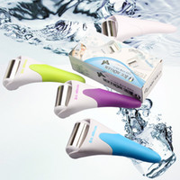 Wholesale Rolling Massage - DHL free shipping derma skin cool ice roller derma rolling system type professionals for face and body massage