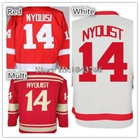 Wholesale Low Price Shirts Free Shipping - Men's #14 Gustav Nyquist Jersey Good Quality Nyquist Winter Classic Jersey Red White Shirt Low Price,Free Shipping