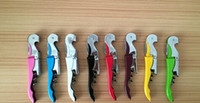 Wholesale Pocket Tool Bottle Opener - Customize Logo Pocket Bar tool Metal Cork Screw Corkscrew Multi-Function Red Wine bottle Opener