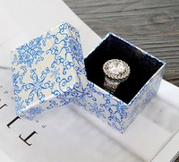 Wholesale Earing Boxes - 30pcs Lot Jewelry Packaging Top Grade Jewelry Boxes Cow Leather Rings Boxes Studs Boxs Rings Earing Studs Package