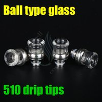 Wholesale glas resale online - E cigarette Ball type glas Drip Tip glass mouthpieces mm Wide Bore Drip Tip fit Vape MOD RDA RBA atomizer Dark horse hellboy