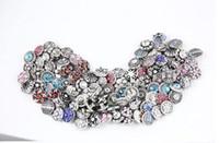 Wholesale Epacket Jewelry - wholesale 30pcs lot Mix many styles 12mm mini ginger snap button rhinestone buttons charm fit snap button jewelry free ePacket