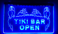 Wholesale Open Pub - LS017-b OPEN Tiki Bar NEW Displays Pub Neon Light Signs