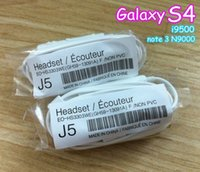 Wholesale Headphone Flat Handsfree - In Ear Headset Earphone Headphones for Smartphone Galaxys3 S4 S5 note 2 3 Handsfree with Remote Volume Control and MIC 50pcs lot Noodel Flat