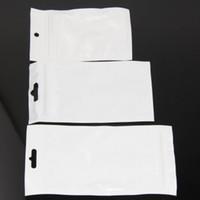 pvc 12 pcs venda por atacado-500 pçs / lote Claro / branco Pérola Plástica Poli OPP Embalagem Zip Pacotes de Varejo PVC saco de plástico 11 * 18 cm 12 * 15 cm 12 * 20 cm 13 * 21 cm 13 * 24 cm 16 * 24 cm