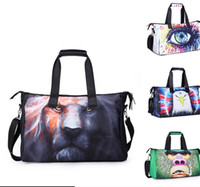 Wholesale Wholesale Tote Bag Luggage - Women Travel Bags Large Capacity 3D animal Luggage Travel Duffle Bags Travel Mummy Bag For Trips KKA3293