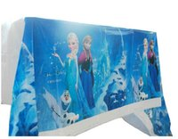 Wholesale Rectangle Banquet Tables - Frozen PE rectangle tablecloth for birthday,party,festival,banquet decoration Children's birthday party supplies 1pcs Disposable Table cloth