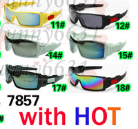 Wholesale 10PCS SUMMER cycling sports dazzling eyeglasses fashion sunglasses women men reflective coating sun glasses colors AAA