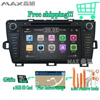 Wholesale Dvd Player For Prius - FOR Toyota Prius 2008 - 2014 car dvd player With Built-in GPS Navigation 1080P MP4 Player Bluetooth FM AM Radio Steering Wheel Control