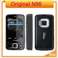 Wholesale Camera Slider Wholesale - Original Nokia N96 16GB Storage 3G WIFI GPS Camera 5MP Slider Single core refurbished Mobile phone
