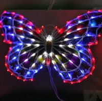 Wholesale Christmas Lights Window Decorations - Free shipping Outdoor lamp lights chandeliers wedding clothing store window decoration supplies 50 cm big butterfly bowknot activities