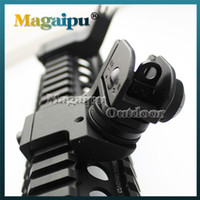 Wholesale Sight 45 Degree - Dueck Defense Rapid Transition Metal Sights RTS rifle scope AR 15 Front and Rear Flip up 45 Degree Rapid Transition hunting Free Shipping