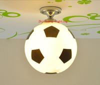 Wholesale Hang Lights Ceiling - kitchen basketball ceiling light bathroom light ceiling lamp baby football ceiling lights glass hanging lamp