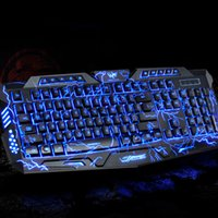 Gaming Keyboard Maus Combos Gamer Switchable Backlights LED USB verdrahtete Game Keyboard für Computer Mac Dota Free DHL 010248