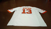 Wholesale Number Hunter - Men Clemson Tigers #13 Hunter Renfrow Replica Orange White College Jersey or custom any name or number jersey