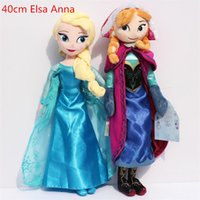 Wholesale Video Games Plush - Frozen plush Toy 40cm Princess Elsa Plush Anna Plush Doll Brinquedos Kids Stuffed Dolls Toys Free shipping