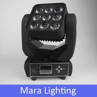 Atacado de alta potência 9 * 12W Matrix Led Moving Head Light 13 / 48CH RGBW 4in1 LCD Disco Club KTV Mostrar Stage Lighting Effect