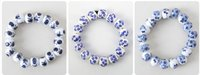 Wholesale Porcelain Blossom - Chinese whole sale Ceramic Jewelry New Arrival Hot Sale Traditional Ethnic Porcelain Jewelry Blue And White Plum Blossom Ceramic Bracelet